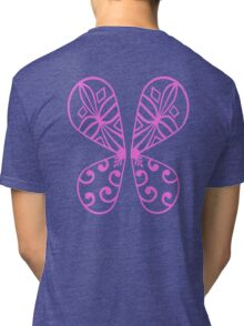 Fairy Wings - Pink Tri-blend T-Shirt