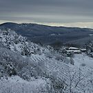 Snow in Tuscany by marens