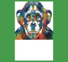 Colorful Chimp Art - Monkey Business - By Sharon Cummings Kids Clothes