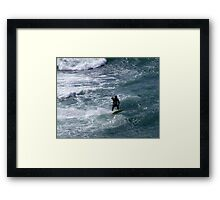 Ahead of the Wave Framed Print