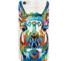 Colorful Llama Art - The Prince - By Sharon Cummings iPhone Case/Skin