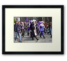 Purple Protest March Framed Print