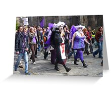 Purple Protest March Greeting Card