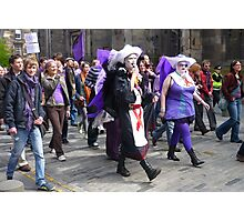 Purple Protest March Photographic Print