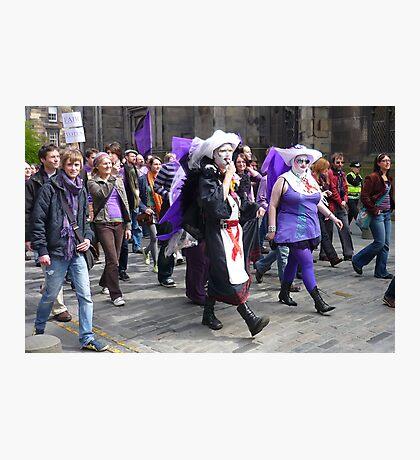 Purple Protest March Photographic Print