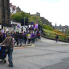 Purple Protest Edinburgh by Yonmei