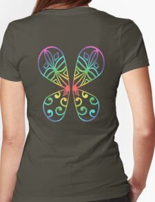 Fairy Wings - Rainbow Womens Fitted T-Shirt