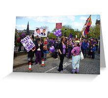 Purple People Edinburgh Rally: New Traffic Signals Ahead Greeting Card
