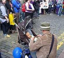 Purple Protest Children by Yonmei
