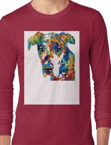 Colorful Great Dane Art Dog By Sharon Cummings Long Sleeve T-Shirt