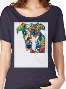 Colorful Great Dane Art Dog By Sharon Cummings Women's Relaxed Fit T-Shirt