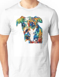 Colorful Great Dane Art Dog By Sharon Cummings Unisex T-Shirt