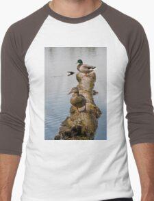 Waterfowl, Mud Lake, Ottawa, Ontario Men's Baseball ¾ T-Shirt