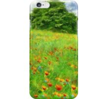 Hillside With Flowers And Trees iPhone Case/Skin