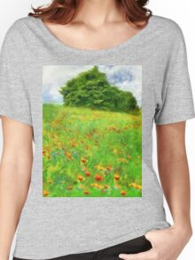 Hillside With Flowers And Trees Women's Relaxed Fit T-Shirt