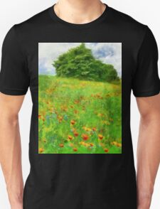 Hillside With Flowers And Trees T-Shirt