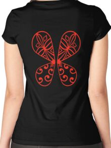 Fairy Wings - Red Women's Fitted Scoop T-Shirt