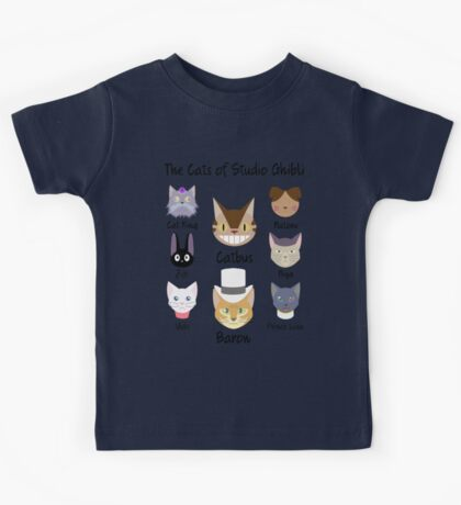 THE CATS OF STUDIO GHIBLI Kids Tee
