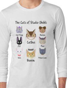 THE CATS OF STUDIO GHIBLI Long Sleeve T-Shirt