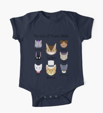 THE CATS OF STUDIO GHIBLI One Piece - Short Sleeve