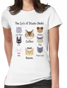 THE CATS OF STUDIO GHIBLI Womens Fitted T-Shirt