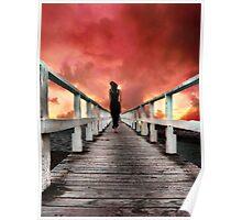 I Walk Away On Shadow Feet Poster