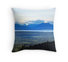 North-West Landscape Throw Pillow