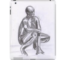 Naked Man, study in Pencil iPad Case/Skin