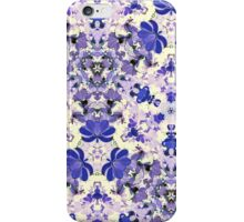 Vintage Purple and Ivory Floral iPhone Case/Skin