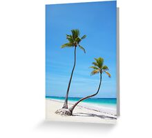 Bavaro Beach in Punta Cana, The Dominican Republic Greeting Card