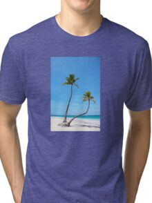 Bavaro Beach in Punta Cana, The Dominican Republic Tri-blend T-Shirt