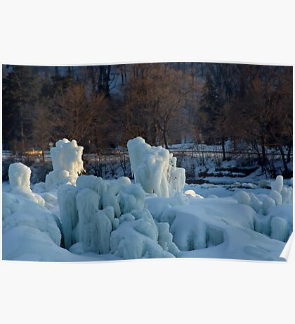 Nature's Ice Sculptures Poster