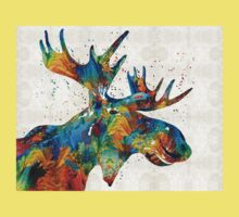 Colorful Moose Art - Confetti - By Sharon Cummings Kids Clothes