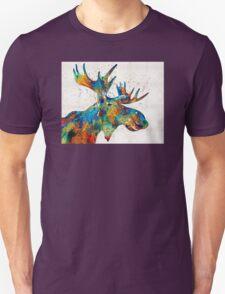 Colorful Moose Art - Confetti - By Sharon Cummings Unisex T-Shirt