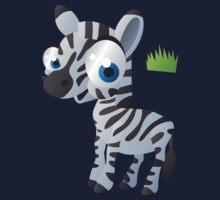 Baby zebra in grass Kids Clothes