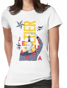 Jean Paul Gaultier Collage Womens Fitted T-Shirt