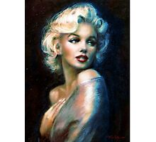 MM  WW blue Photographic Print