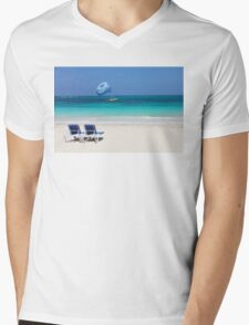 Dive boat in Curacao, Dutch Antilles Mens V-Neck T-Shirt