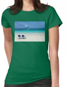 Dive boat in Curacao, Dutch Antilles Womens Fitted T-Shirt