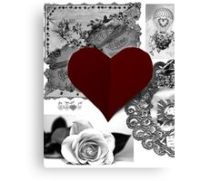 Valentine brushes Canvas Print