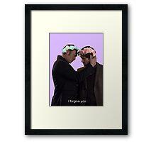 I forgive u - Hannibal Framed Print