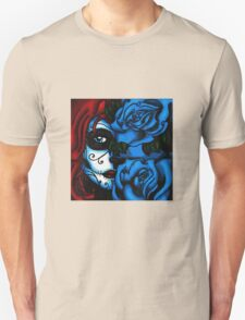 Blue Rose Face Unisex T-Shirt