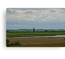 Berney Arms Windmill from over the River Waveney Canvas Print