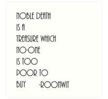 Noble Death  Art Print