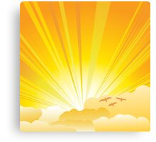 Sunny card Canvas Print