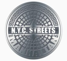 Manhole Covers Manhattan Gray by ImagineThatNYC