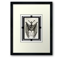 The Black Dragon And The Moon Framed Print