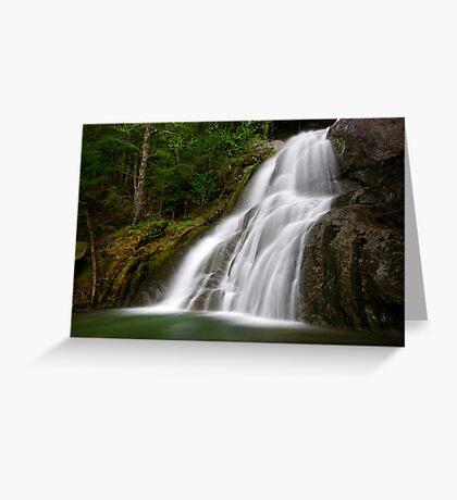 Moss Glen Falls - A Side View Greeting Card