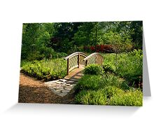 The Bridge At Brookside Gardens Greeting Card