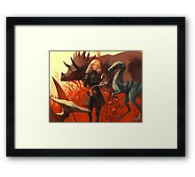 Dinosaur Knight Framed Print